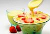 Yummy Fruit Salad with custard