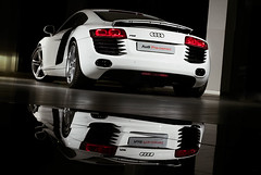 Audi R8 Rear (waldo_swiegers) Tags: car automobile performance germancar sportscar whitecar audir8