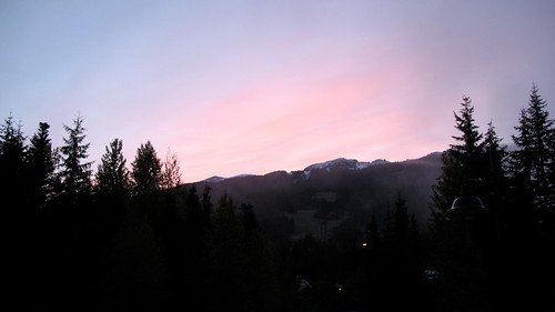 Dawn over Blackcomb Mountain