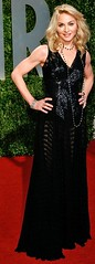 Madonna at the Vanity Fair party