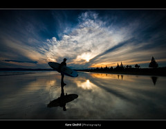 ___^___ ([ Kane ]) Tags: trees newzealand people sun beach clouds reflections sand surf dad surfer father explore nz northisland kane gisborne gledhill great123 kanegledhill humanhabits kanegledhillphotography