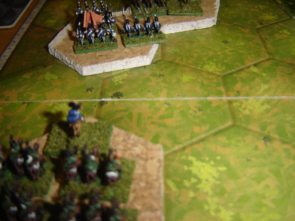 French hussars threaten Portuguese infantry