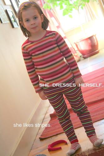she likes stripes