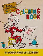 Reddy Kilowatt's Coloring Book (The Pie Shops Collection) Tags: vintage children 1966 electricity coloringbook reddykilowatt advertisingmascot