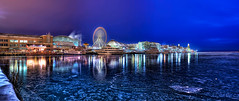 Navy Pier Panorama - Mark your seat on the ferris wheel with a note! (kern.justin) Tags: lake chicago ice wheel pier nikon michigan navy ferris hdr blueribbonwinner nikkor50mmf18afd d700 kernjustin wwwthewindypixelcom