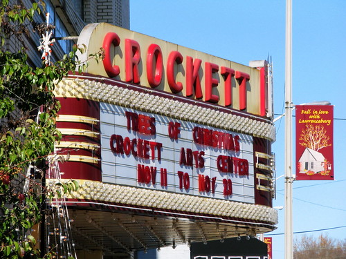 Crockett Theater Marquee - Lawrenceburg, TN