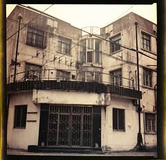 Street Corner: Wangjiamatou Lu/Wanyu Jie (avezink) Tags: china street house building film analog shanghai poor neighborhood   expired shanghaiist gdr oldcity kiev88 expiredfilm lowrise orwo  orwocolor volna2870  gdrfilm