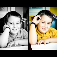 Felipe (Fernando Delfini) Tags: light boy portrait bw color smile canon studio children de happy kid diptych faces retrato sopaulo happiness sampa sp portraiture fernando criana fotografia vignette 2009 menino strobe imagem treatment delfini edio vinheta dptico strobist fernandodelfinicom