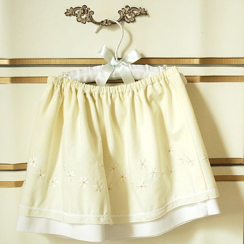 $1 kitchen cafe curtains, now a skirt