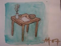 Ritual Table (Alberto J. Almarza) Tags: visions dreams secrets gatekeeper liminal blueandbrown shapeshifting paralleldimensions albertojalmarza councilofintelligences bluechairexperiments