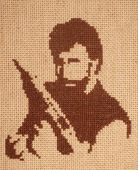 Kick Your Ass (Stitch Out Loud) Tags: brown celebrity crossstitch craft pop needlepoint popart chucknorris stitchoutloud