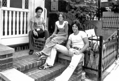 57th St Stoop Bell Bottoms Platform Shoes 1977 70s Brooklyn - by Whiskeygonebad