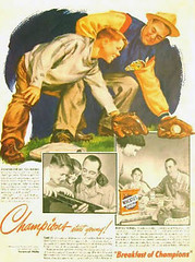 Wheaties Champion advertisement when Keltner played for the Cleveland Indians. ~courtesy Jeff Keltner
