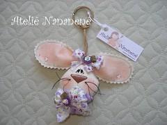 """Chaveiro """"Coelha"""" (Ateli Nananen by R) Tags: feitomo pscoa presente tecido chaveiro coelha"""