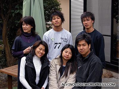 Group photo with Masako, Toshiki and Motoki (without me)