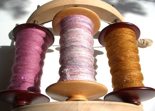 Roses in the Snow, 5.6oz, Happy Hooves Sock Batt Club from Enchanted Knoll, trade from Dave-ready for plying