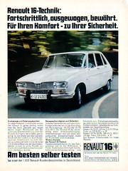 Renault 16 (sonjasfotos) Tags: advertising renault werbung r4 r8 lkw r6 r30 r5 r10 r12 r17 r9 prospekt r18 salesbrochure r15 r20 r14 r11 r16