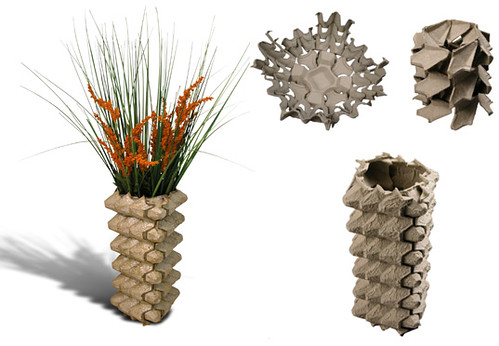 Egg crate vase by Inhabitat.