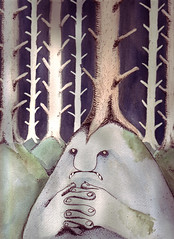 Det Ensamma Trollet (Charlotte Gudmundsson) Tags: trees fairytale forest moss alone skog watercolour troll mossy ensam