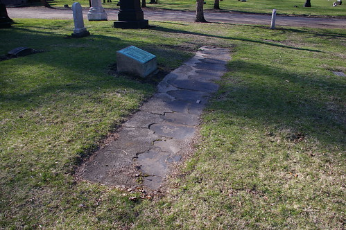 Graves moved from Ontario Street Cemetery