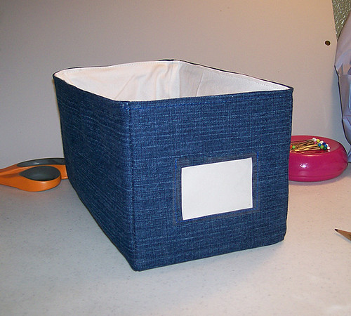 box used for fabric organization