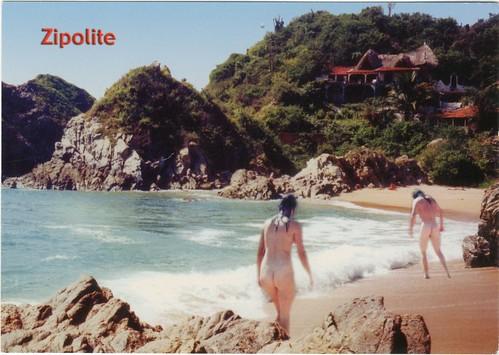 Nudist beach zipolite