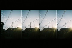 Sun In The Morning (sbrsmn) Tags: morning sky sun film fuji cardia rensha