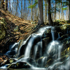 ~ Country Cascade ~ (ViaMoi) Tags: longexposure wild canada nature creek forest waterfall stream exposure daytime wilderness cascade waterfal canadia naturalist polarizing digitalcameraclub mywinners viamoi gateneau 100commentgroup