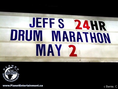 Molson Canadian and Jeff Burrows 24 Hour Drum-a-Thon
