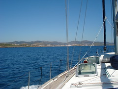 Sailing near Vouliagmeni