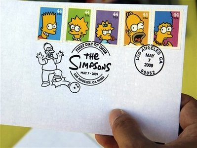Simpsons U.S. Postage Supplies