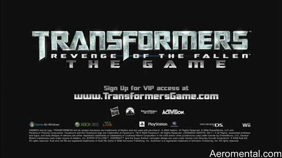 juego de Transformers 2 Revenge of the Fallen