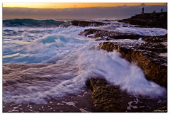 (Visual Clarity Photography) Tags: cloud wet water rock clouds danger sunrise dawn dangerous nikon rocks whitewater surf waves cloudy au sydney may australia nsw photowalk newsouthwales weathered tamron 2009 lightroom rockformation kurnell slipperywhenwet d90 theshire dangerouscurrents tamronspaf1750mmf28xrdiiildasphericalif nikond90 dsc1089