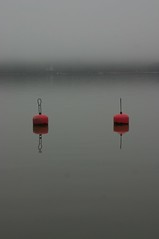 Two apples (ThomasWee) Tags: red sea fog finland buoys