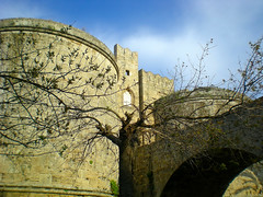 Medieval town Rhodes island Greece (pantherinia_hd Anna A.) Tags: travel vacation building castle stone architecture island europe mediterranean hellas medieval greece destination rhodes