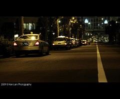 Waiting at the end, its gonna be a long night. (Ken.Lam) Tags: road urban lines japan night tokyo traffic taxi scene   rank    toyosu