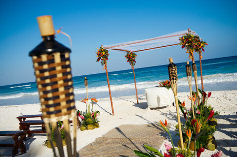 Beach-Wedding-Path-Tiki-Canopy