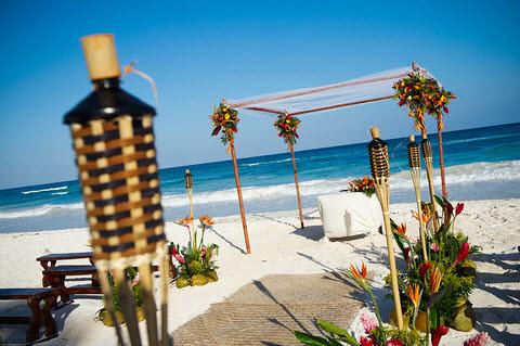 Beach-Wedding-Path-Tiki-Canopy