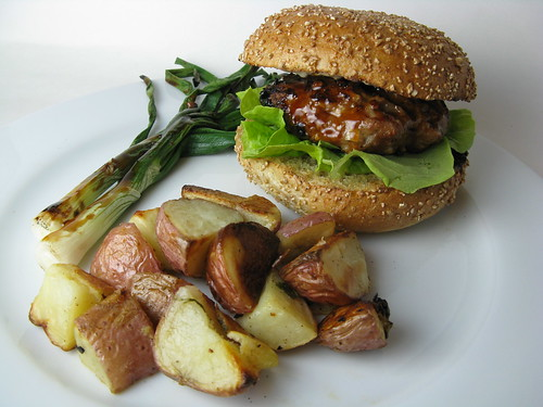 Turkey Yakitori Burger