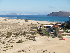 View to Los Lobos and Lanzarote