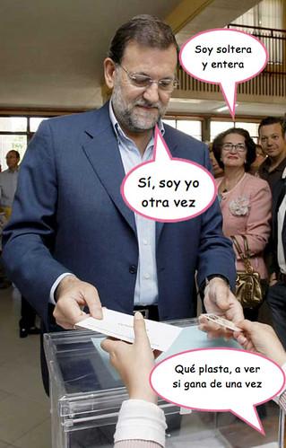 Fotografía de Rajuela votando