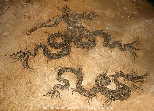 Triton and Ketos - Roman mosaic in Krk