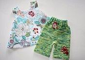 Wild Garden - swing top and knit shorties set - medium