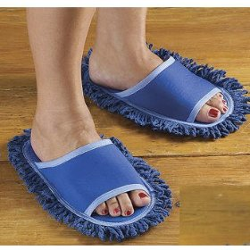 Dust Mop Slippers from Amazon