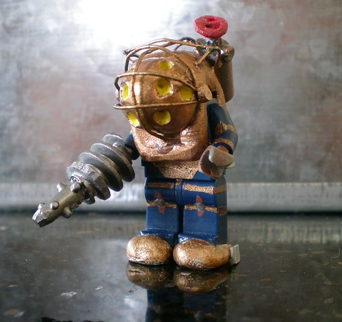 big daddy bioshock custom minifig