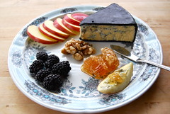 best lunch ever (sevenworlds16) Tags: blue cheese vintage island king brothers plate australia honey miel apples dairy honeycomb forties blackberries roaring panal marquez