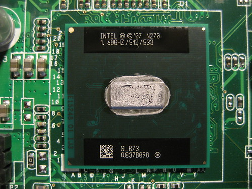 Intel n270 core 16ghz негізгі жиілігі, 533мгц сыртқы жиілік, 512 мгц кэш
