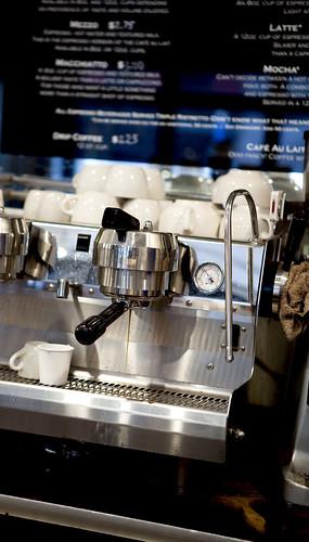 Dripping espresso