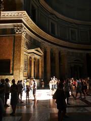 Sun inside the Pantheon   Rome, Italy (Bastiaan Bongers) Tags: summer italy sun rome roma italia pantheon july panasonic zomer inside juli rom 2009 itali fz18