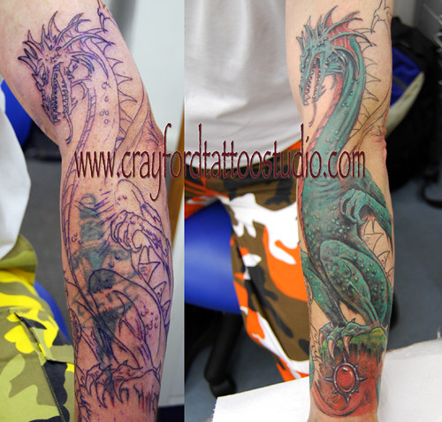 Fantasy Dragon Tattoo by The Tattoo Studio